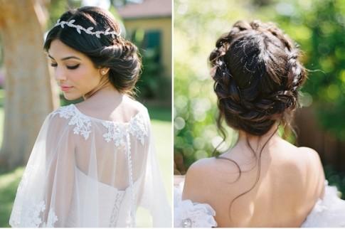 Kiểu tóc búi thấp tuyệt đẹp 2017 cho cô dâu xinh xắn trong ngày cưới