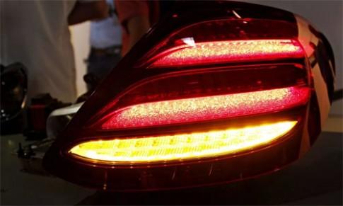 Mercedes E-class 2016 lộ diện đèn hậu công nghệ mới