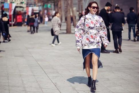 Minh Hằng siêu dễ thương tại Tuần thời trang Seoul