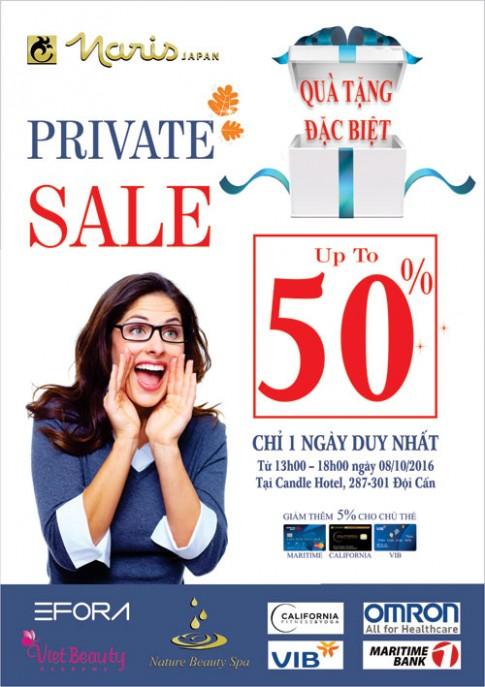 Naris's Private Sale - ngày hội làm đẹp và tỏa sáng.