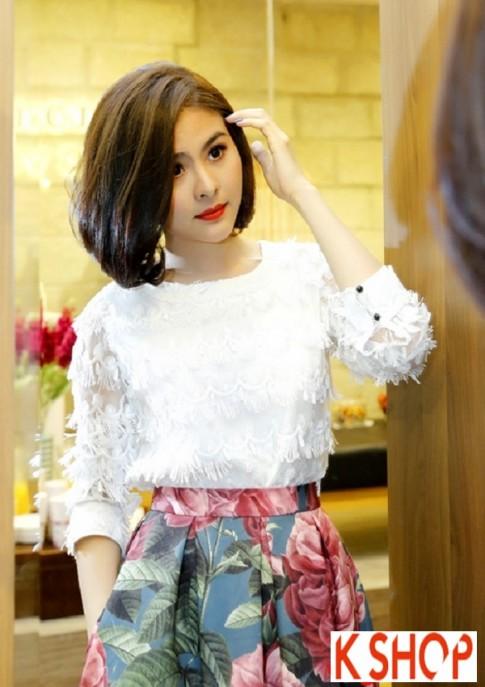 Ngắm kiểu tóc ngắn ngang vai đẹp của sao Việt nổi bật nhất 2017