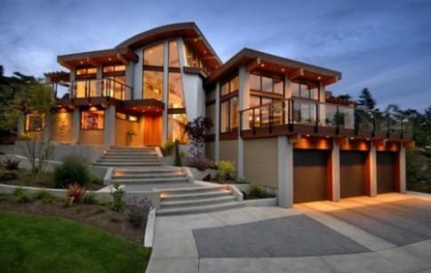 Nhà đẹp như ngọc nhờ gỗ, kính