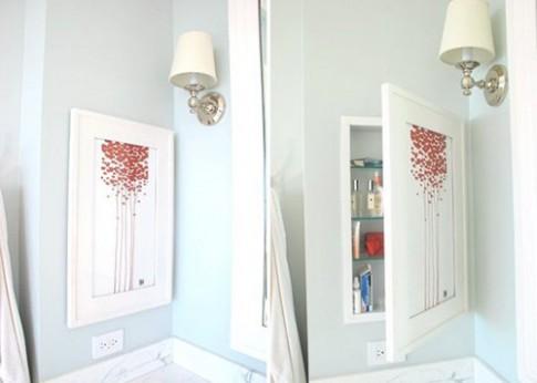 Những chỗ cất đồ bất ngờ trong phòng tắm