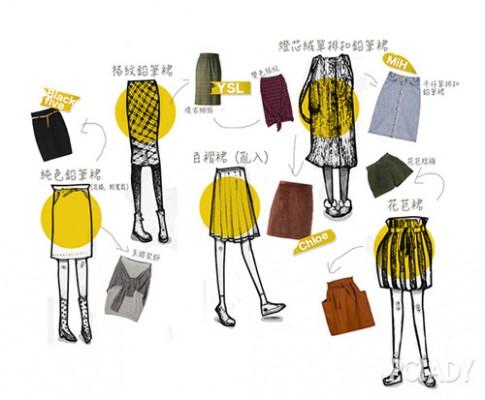 Những kiểu phối chân váy đẹp miễn chê cho mùa đông