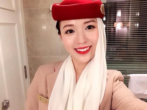 """Nụ cười """"đốn tim"""" của cô gái Việt làm tiếp viên hàng không tại Dubai"""