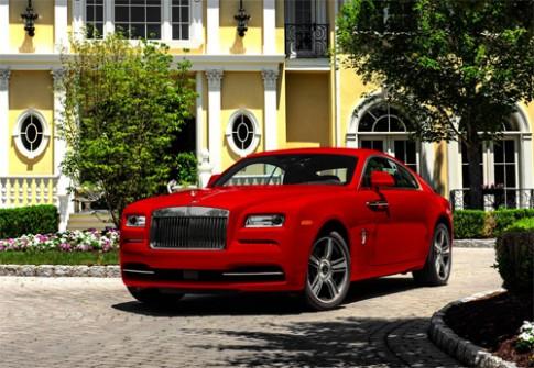 Rolls-Royce Wraith phiên bản St. James đỏ rực