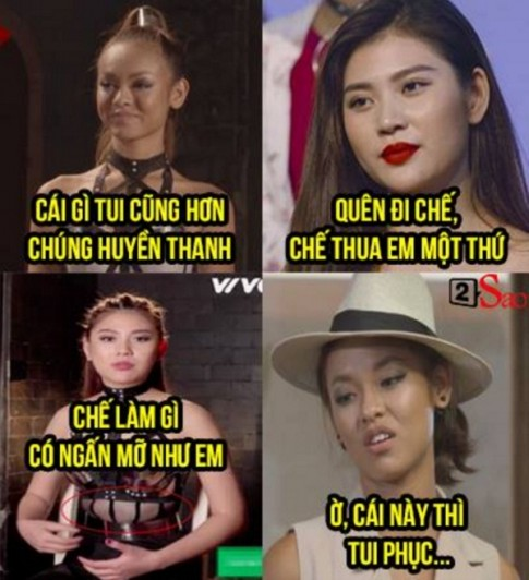 The Face Việt Nam: Vì bụng ngấn mỡ mà Chúng Huyền Thanh mới ra nông nỗi này!