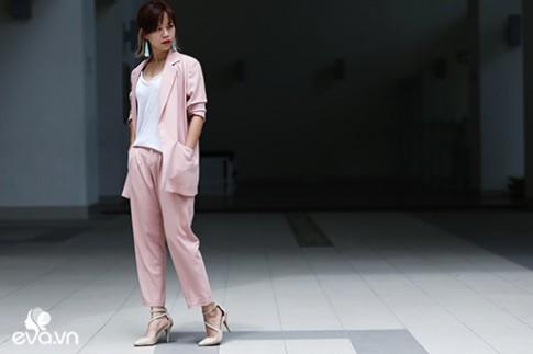 Thời trang công sở ngắm mãi không chán của bạn gái Hà Thành