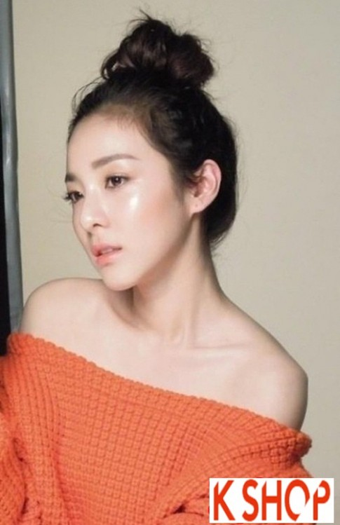 Tóc búi đẹp 2017 phong cách Hàn Quốc trẻ trung xinh xắn