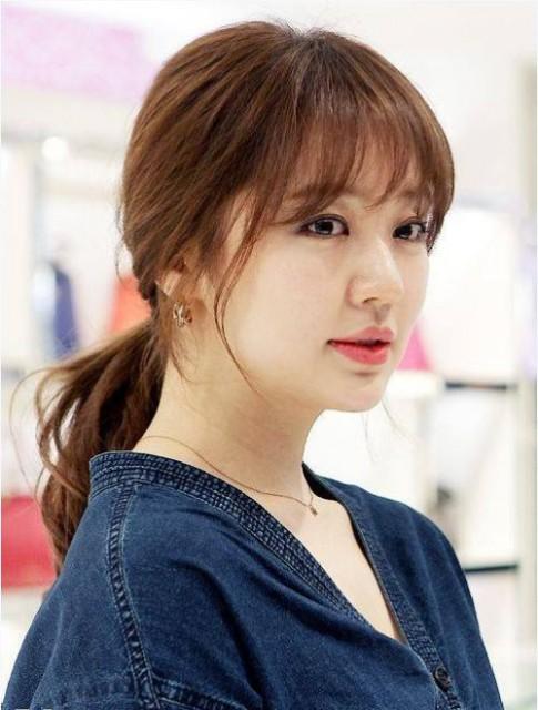 Tóc nhuộm màu nâu hạt dẻ đẹp 2017 dịu dàng xinh xắn sao kpop Hàn Quốc