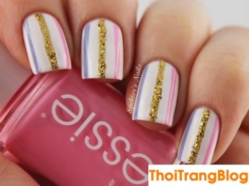 Top 15 mẫu móng tay nail kẻ sọc đẹp cho nàng công sở yêu style đơn giản