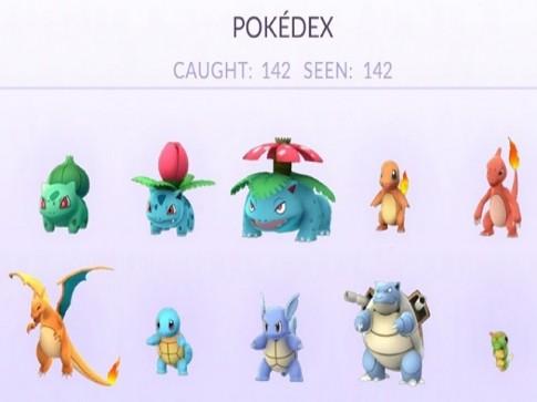Đã có người chơi chinh phục 142 con Pokemon