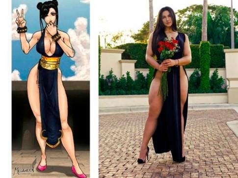 """Cô gái Mỹ có thân hình """"siêu tưởng"""" như mỹ nhân game"""