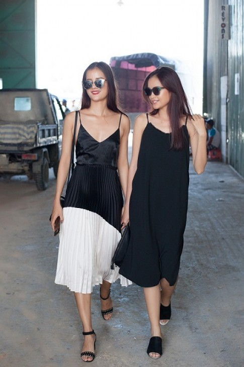 Hương Ly, Ngọc Châu thử đồ show thời trang của Angela Phương Trinh