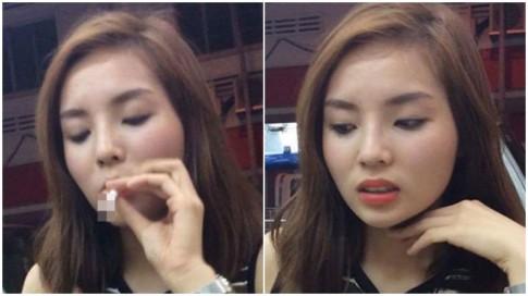 Kỳ Duyên lại hút thuốc, BTC Hoa hậu VN đã xử lý ra sao?