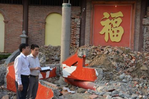 Cận cảnh công trình trái phép trong khu di tích Yên Tử