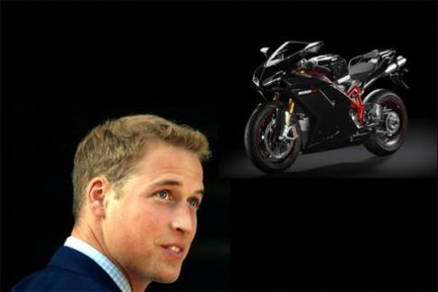 Hoàng tử William tậu siêu môtô Ducati