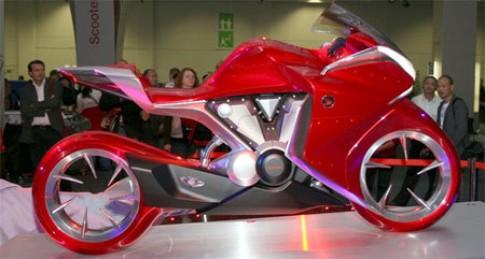 Honda V4 concept - sieu moto cho tuong lai