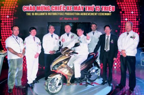 Honda Viet Nam xuat xuong xe may thu 15 trieu