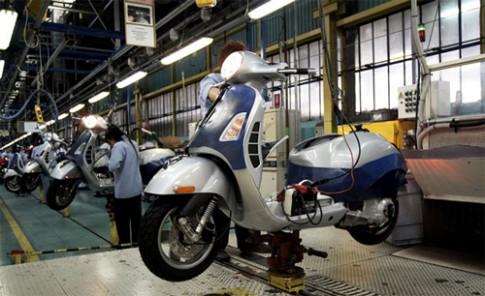 Piaggio sụt giảm lợi nhuận hơn 50%