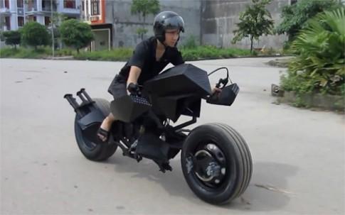 'Siêu môtô' Batman của chàng trai Việt lên báo nước ngoài