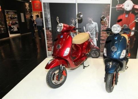 Xe máy nhái Trung Quốc thản nhiên dự triển lãm quốc tế