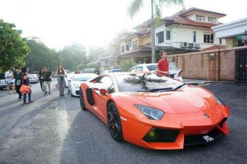 Đám cưới siêu xe của tuyển thủ cầu lông Malaysia