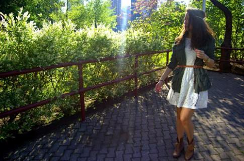 Đẹp tựa thiên thần với váy ren trắng