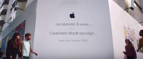 Apple Store sắp ra mắt ở Bỉ được trang trí bởi truyện tranh