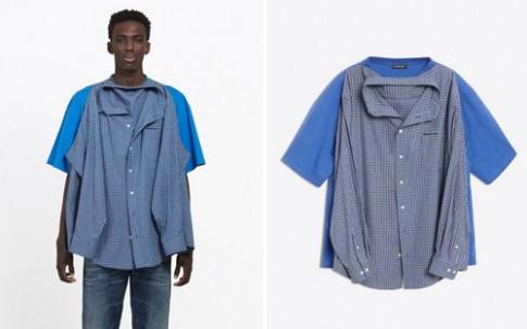 Balenciaga bị 'ném đá' vì bán sơ mi gắn áo phông gần 1.300 USD