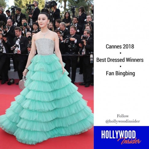 Bất chấp dư luận khen chê, chiếc váy 'bánh kem' của Phạm Băng Băng hiên ngang giành giải trang phục đẹp nhất Cannes 2018