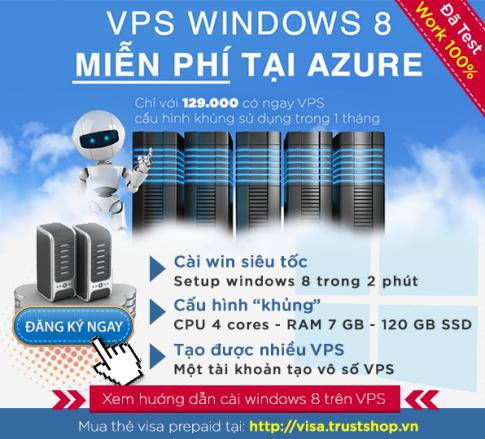 Hướng dẫn cài Windows 8 trên VPS Azure