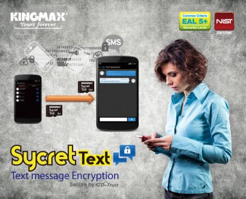 """Kingmax ra mắt thẻ nhớ """"mã hóa dữ liệu"""" đầu tiên trên thế giới cho điện thoại"""