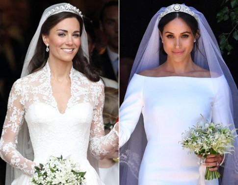 Phong cách trang điểm ngày cưới của hai công nương nước Anh
