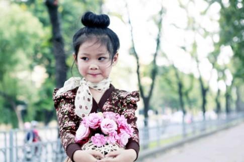 Siêu mẫu nhí: Thiên Trang dịu dàng cùng mùa thu!