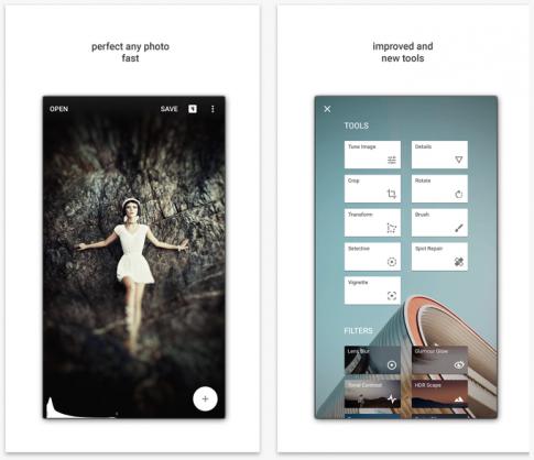 Snapseed - trình sửa ảnh mạnh mẽ, miễn phí cập nhật 2.0