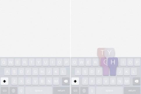 Tạo hiệu ứng màu ảo diệu dành cho bàn phím iPhone