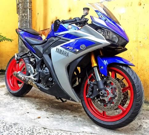 Yamaha R3 độ dàn chân cực khủng tại Việt Nam