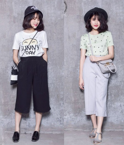 5 kiểu mix đồ với quần culottes khiến các cô gái thích mê