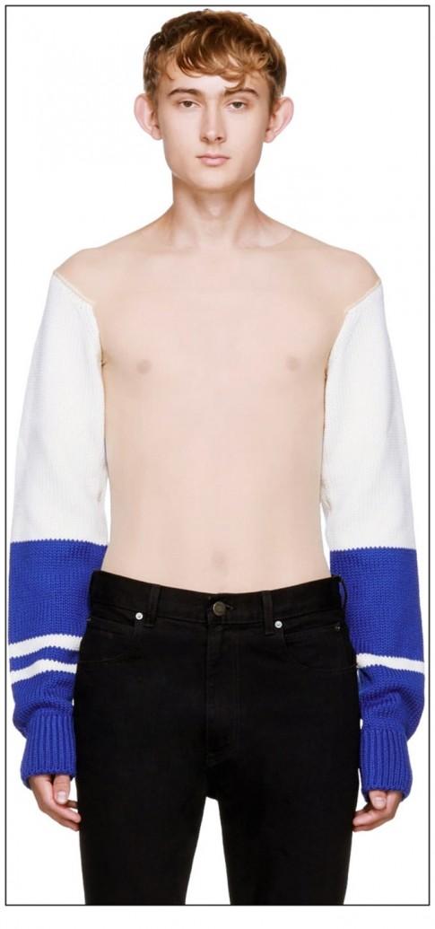 Calvin Klein khiến tất cả 'cạn lời' với chiếc áo xuyên thấu cho nam rất dị hợm
