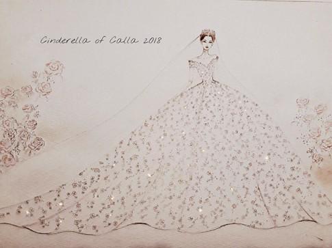 Cận cảnh chiếc váy cưới đẹp hơn tranh vẽ của nàng Lọ lem Calla