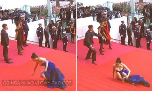 Cannes ngày 1: Người đẹp Trung Quốc ngã, Lý Nhã Kỳ diện màu nổi