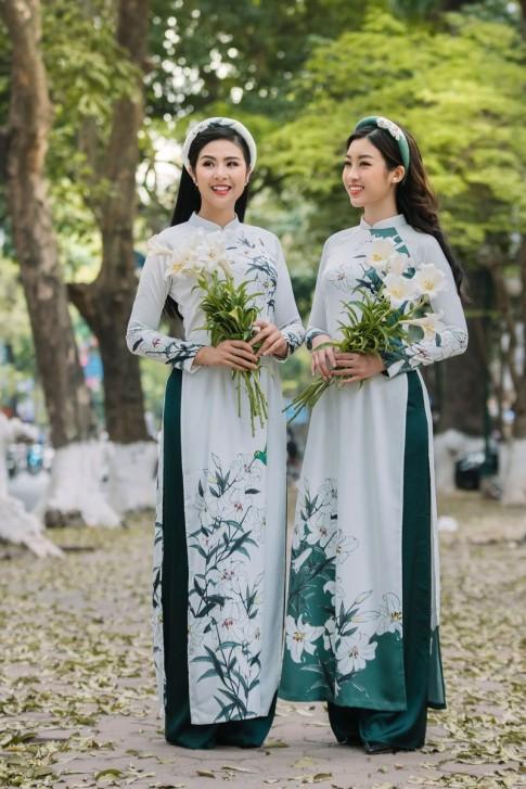 """Đỗ Mỹ Linh trở thành 'nàng thơ' trong BST áo dài """"Hoa Loa Kèn"""" của Ngọc Hân"""