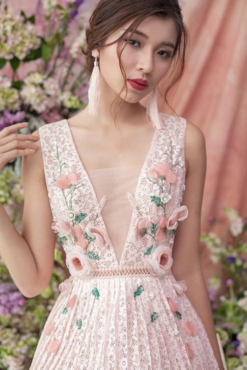 Đồng Ánh Quỳnh The Face quyến rũ với sắc màu pastel