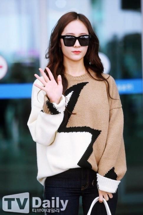 Fan xót xa khi nhìn lại thời Krystal còn mái tóc dài và hình ảnh mái rẽ ngôi lộ trán mới đây