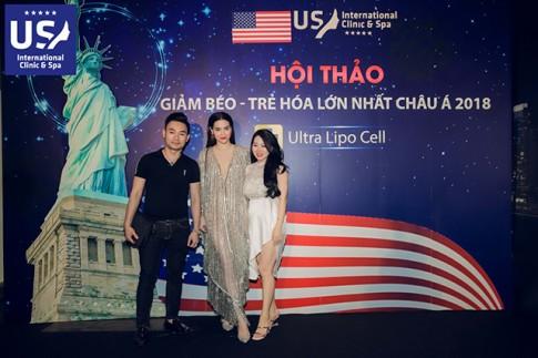 Hà Hồ , Thu Phương chiếm trọn sự chú ý tại sự kiện của US International.