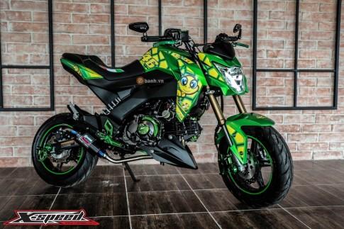 Kawasaki Z125 đầy cá tính trong bộ cánh chú rùa