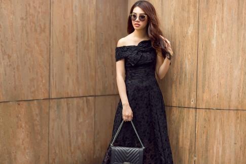 Mặc đẹp với tông màu trầm cực sang chảnh cho ngày thu như Hoa hậu Jolie Nguyễn