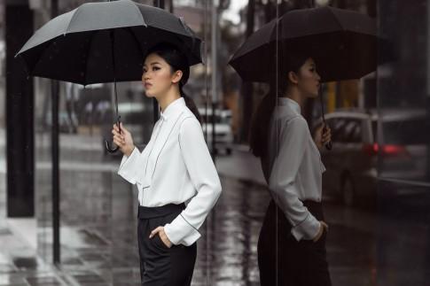 Rũ bỏ hình ảnh 'bánh bèo', Á hậu Thanh Tú cực chất với menswear style