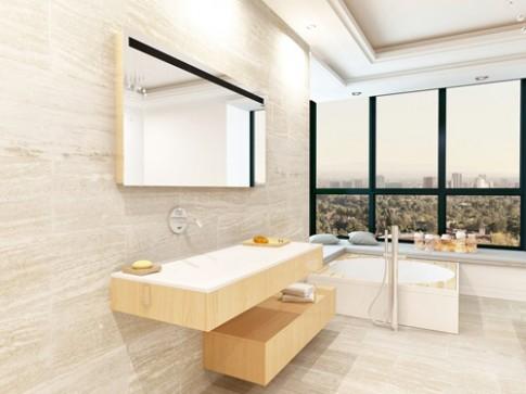 8 ý tưởng giúp phòng tắm nhỏ thêm đẹp.